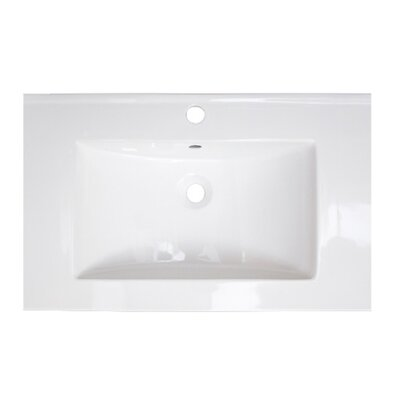 Ceramic 24 Single Bathroom Vanity Top Faucet Mount: Single Hole