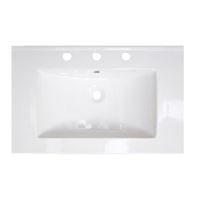 Ceramic 24 Single Bathroom Vanity Top Faucet Mount: 8 Centers