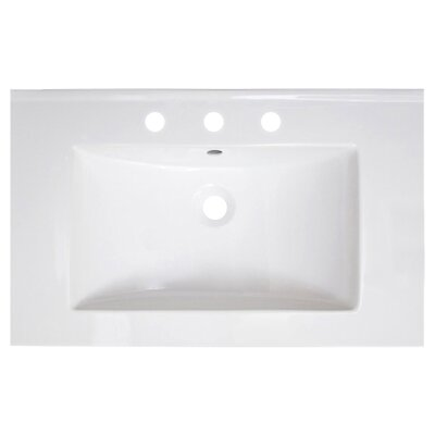 Vee Ceramic 30 Single Bathroom Vanity Top Faucet Mount: 8 Centers