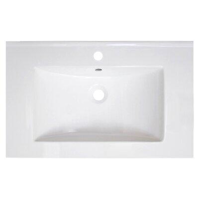 Vee Ceramic 30 Single Bathroom Vanity Top Faucet Mount: Single Hole