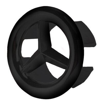 Brass Overflow Cap Finish: Black