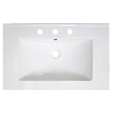 Vee Ceramic 30 Single Bathroom Vanity Top Faucet Mount: 8 Centers
