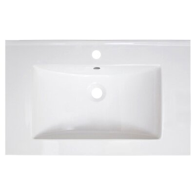 Vee Ceramic 30 Single Bathroom Vanity Top Faucet Mount: Single Hole