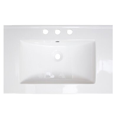 Flair Ceramic 25 Single Bathroom Vanity Top Faucet Mount: 8 Centers