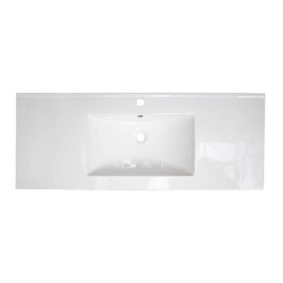Roxy Ceramic 48 Single Bathroom Vanity Top Faucet Mount: Single Hole
