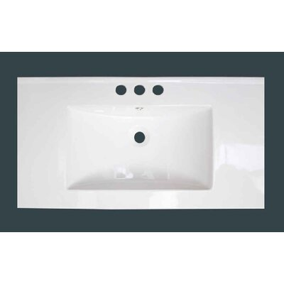 Hinerman 36 Wall-Mounted Single Bathroom Vanity Set Faucet Mount: 4 Centers