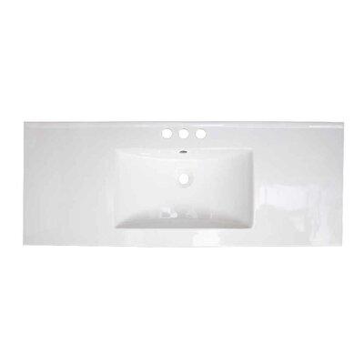 Roxy Ceramic 48 Single Bathroom Vanity Top Faucet Mount: 4 Centers