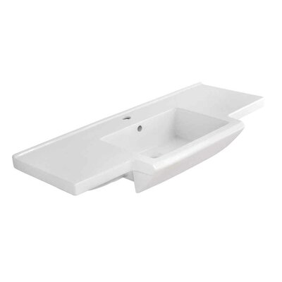 Prelude Ceramic 40 Bathroom Vanity Top Faucet Mount: Single Hole