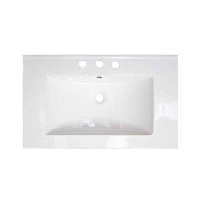 Roxy Ceramic 32 Single Bathroom Vanity Top Faucet Mount: 8 Centers