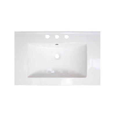 Roxy Ceramic 24 Single Bathroom Vanity Top Faucet Mount: 8 Centers