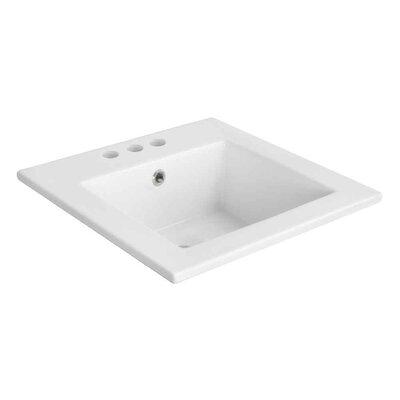 Ceramic 17 Single Bathroom Vanity Top Faucet Mount: 4 Centers