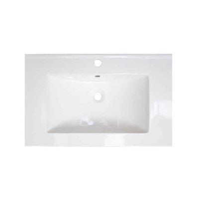 Vee Ceramic 21 Single Bathroom Vanity Top Faucet Mount: Single Hole