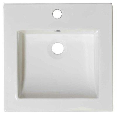 Nikki Ceramic 21.5 Single Bathroom Vanity Top Faucet Mount: Single Hole