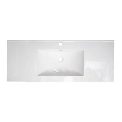 Ceramic 40 Single Bathroom Vanity Top Faucet Mount: Single Hole
