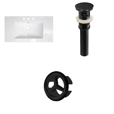 Roxy 32 Single Bathroom Vanity Top Faucet Mount: 4 Centers, Overflow Cap Color: Oil Rubbed Bronze