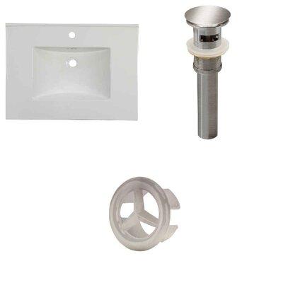 31 Single Bathroom Vanity Top Faucet Mount: Single, Overflow Cap Color: Brushed Nickel