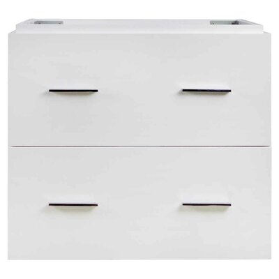 69 Double Bathroom Vanity Base Base Finish: White