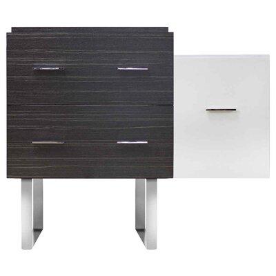 Xena Modern 37 Single Bathroom Vanity Base Base Finish: Dawn Gray/White