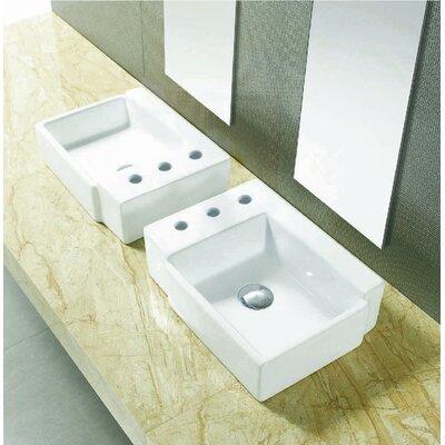 Ceramic 16.25 Bathroom Sink Installation Type: Vessel Sinks