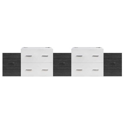 Xena Wall Mount Plywood-Veneer 89 Double Bathroom Vanity Base