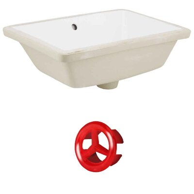 Ceramic Rectangular Undermount Bathroom Sink with Overflow Drain Finish: Red, Sink Finish: White