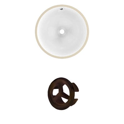 Ceramic Circular Undermount Bathroom Sink with Overflow Drain Finish: Oil Rubbed Bronze