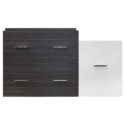 Xena Modern Wall Mount 37 Single Bathroom Vanity Base Base Finish: Dawn Gray