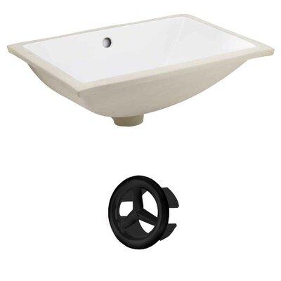 Rectangular Undermount Bathroom Sink with Overflow Drain Finish: Black