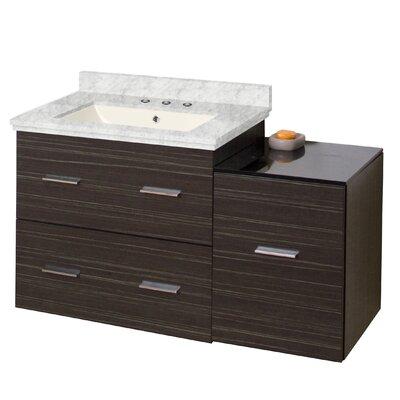 Phoebe Drilling Wall Mount 38 Ceramic Top Single Bathroom Vanity Set with Handles Sink Finish: Biscuit