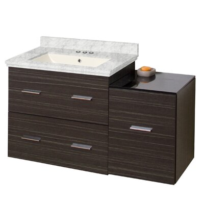 Phoebe Drilling Wall Mount 38 Modern Single Bathroom Vanity Set with Drawers Sink Finish: Biscuit