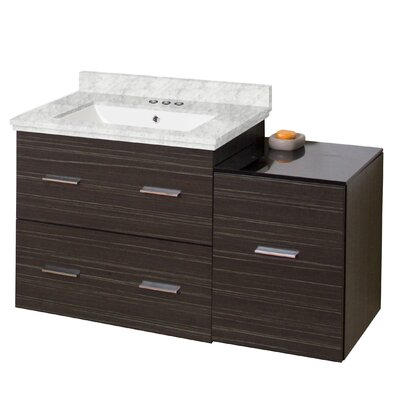 Phoebe Drilling Wall Mount 38 Modern Single Bathroom Vanity Set with Drawers Sink Finish: White