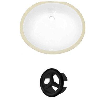 Oval Undermount Bathroom Sink with Overflow Drain Finish: Black