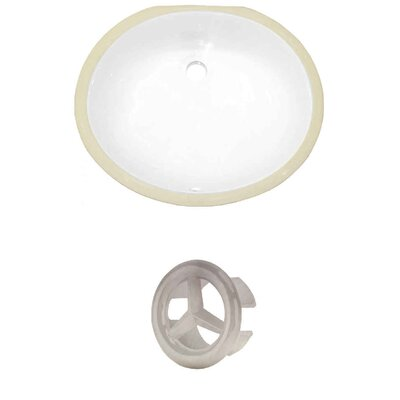 Oval Undermount Bathroom Sink with Overflow Drain Finish: Brushed Nickel