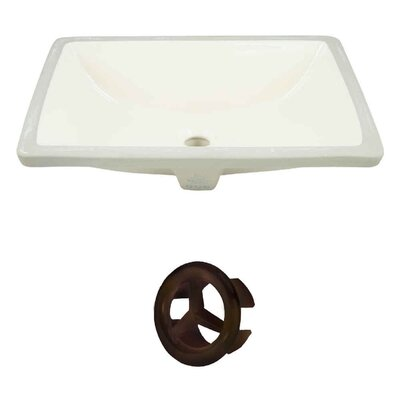 Rectangular Undermount Bathroom Sink with Overflow Drain Finish: Oil Rubbed Bronze
