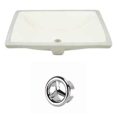 Rectangular Undermount Bathroom Sink with Overflow Drain Finish: Chrome