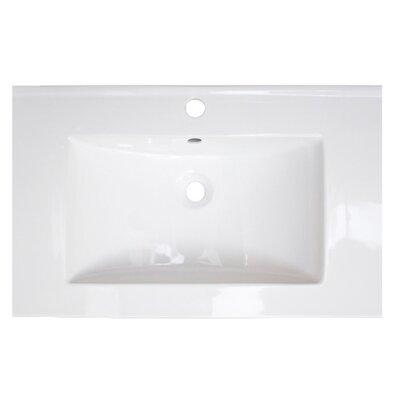 Flair Ceramic 23.75 Single Bathroom Vanity Top