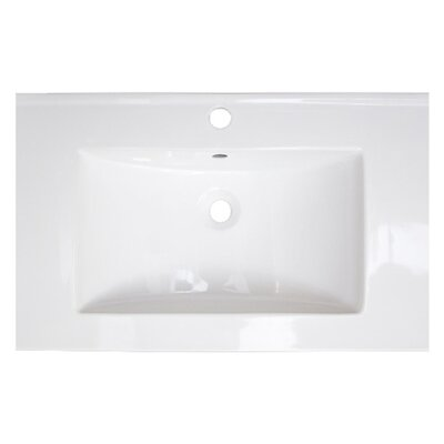 Ceramic 24 Single Bathroom Vanity Top Faucet Mount: Single Hole