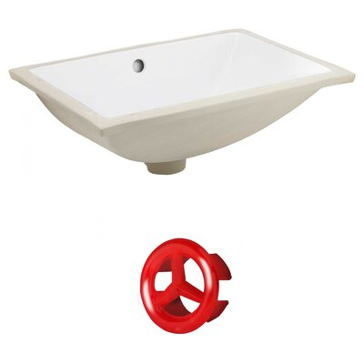 Ceramic Rectangular Undermount Bathroom Sink with Overflow Drain Finish: Red