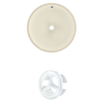 Circular Undermount Bathroom Sink with Overflow Drain Finish: White