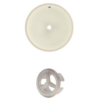 Circular Undermount Bathroom Sink with Overflow Drain Finish: Brushed Nickel