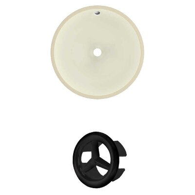 Circular Undermount Bathroom Sink with Overflow Drain Finish: Black