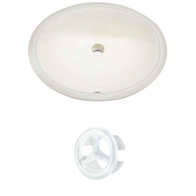 Oval Undermount Bathroom Sink with Overflow Drain Finish: White