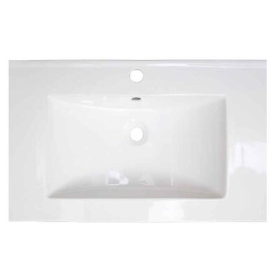 Roxy Ceramic 24 Single Bathroom Vanity Top Faucet Mount: Single Hole
