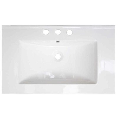 Roxy Ceramic 32 Single Bathroom Vanity Top Faucet Mount: 8 Centers