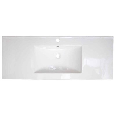 Flair Ceramic 49 Single Bathroom Vanity Top Faucet Mount: Single Hole