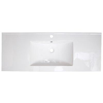 Roxy Ceramic 48 Single Bathroom Vanity Top Faucet Mount: Single Hole