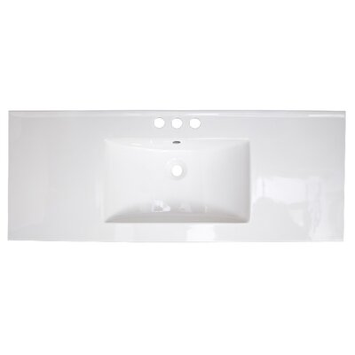Roxy Ceramic 48 Single Bathroom Vanity Top Faucet Mount: 4 Centers