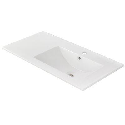 Ceramic 36 Single Bathroom Vanity Top Faucet Mount: Single Hole