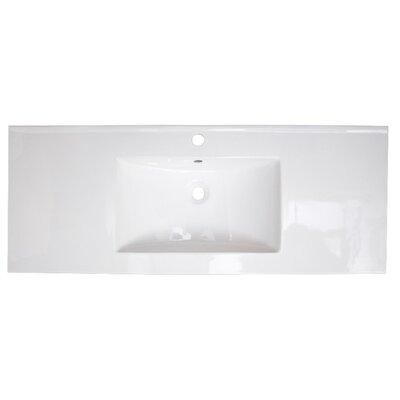 Ceramic 40 Single Bathroom Vanity Top Faucet Mount: Single Hole