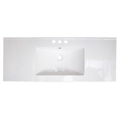 Flair Ceramic 49 Single Bathroom Vanity Top Faucet Mount: 8 Centers